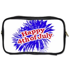 Happy 4th Of July Graphic Logo Toiletries Bags