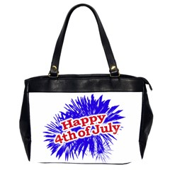 Happy 4th Of July Graphic Logo Office Handbags (2 Sides)