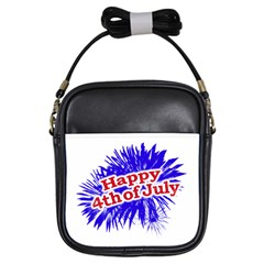Happy 4th Of July Graphic Logo Girls Sling Bags