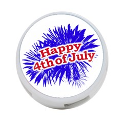 Happy 4th Of July Graphic Logo 4-Port USB Hub (Two Sides)