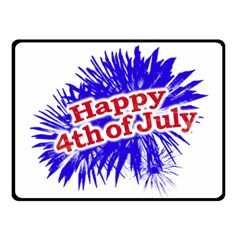 Happy 4th Of July Graphic Logo Fleece Blanket (Small)