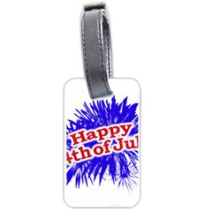 Happy 4th Of July Graphic Logo Luggage Tags (One Side)