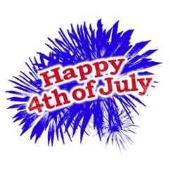 Happy 4th Of July Graphic Logo Magic Photo Cubes