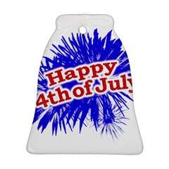 Happy 4th Of July Graphic Logo Bell Ornament (Two Sides)