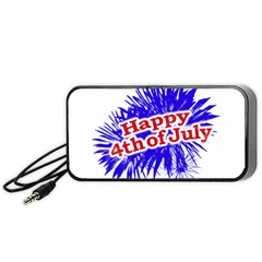 Happy 4th Of July Graphic Logo Portable Speaker (Black)