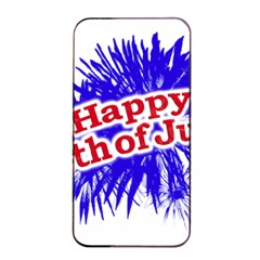 Happy 4th Of July Graphic Logo Apple iPhone 4/4s Seamless Case (Black)