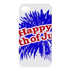 Happy 4th Of July Graphic Logo Apple iPhone 4/4S Hardshell Case