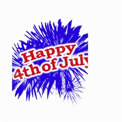 Happy 4th Of July Graphic Logo Small Garden Flag (Two Sides)