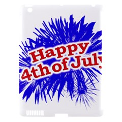 Happy 4th Of July Graphic Logo Apple iPad 3/4 Hardshell Case (Compatible with Smart Cover)