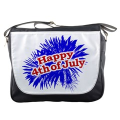 Happy 4th Of July Graphic Logo Messenger Bags