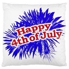 Happy 4th Of July Graphic Logo Large Cushion Case (Two Sides)
