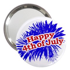 Happy 4th Of July Graphic Logo 3  Handbag Mirrors