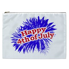 Happy 4th Of July Graphic Logo Cosmetic Bag (XXL)