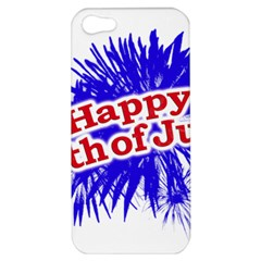 Happy 4th Of July Graphic Logo Apple iPhone 5 Hardshell Case