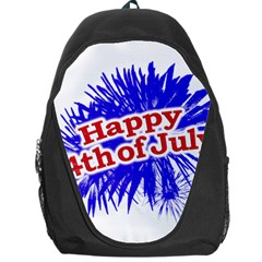 Happy 4th Of July Graphic Logo Backpack Bag