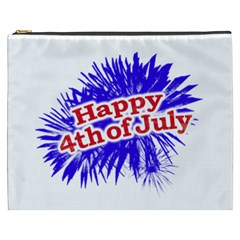 Happy 4th Of July Graphic Logo Cosmetic Bag (XXXL)