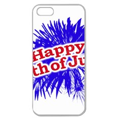 Happy 4th Of July Graphic Logo Apple Seamless iPhone 5 Case (Clear)