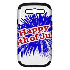 Happy 4th Of July Graphic Logo Samsung Galaxy S III Hardshell Case (PC+Silicone)