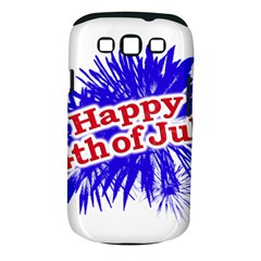 Happy 4th Of July Graphic Logo Samsung Galaxy S III Classic Hardshell Case (PC+Silicone)