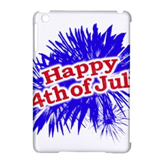 Happy 4th Of July Graphic Logo Apple iPad Mini Hardshell Case (Compatible with Smart Cover)
