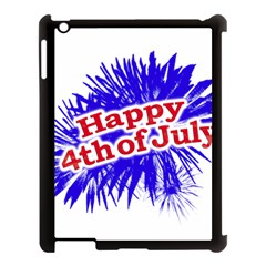 Happy 4th Of July Graphic Logo Apple iPad 3/4 Case (Black)