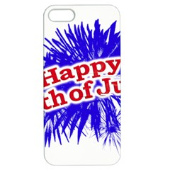 Happy 4th Of July Graphic Logo Apple iPhone 5 Hardshell Case with Stand