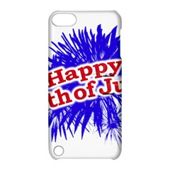 Happy 4th Of July Graphic Logo Apple iPod Touch 5 Hardshell Case with Stand