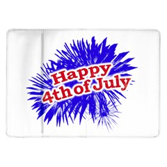 Happy 4th Of July Graphic Logo Samsung Galaxy Tab 10.1  P7500 Flip Case