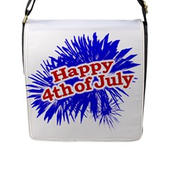 Happy 4th Of July Graphic Logo Flap Messenger Bag (L)