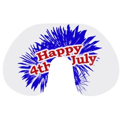 Happy 4th Of July Graphic Logo Travel Neck Pillows