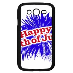 Happy 4th Of July Graphic Logo Samsung Galaxy Grand DUOS I9082 Case (Black)