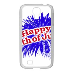Happy 4th Of July Graphic Logo Samsung GALAXY S4 I9500/ I9505 Case (White)