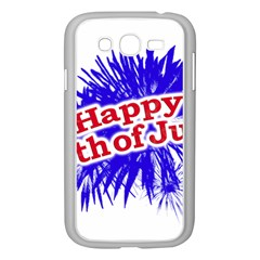Happy 4th Of July Graphic Logo Samsung Galaxy Grand DUOS I9082 Case (White)