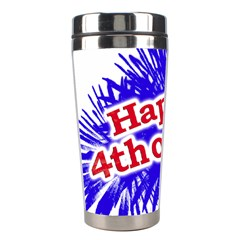 Happy 4th Of July Graphic Logo Stainless Steel Travel Tumblers