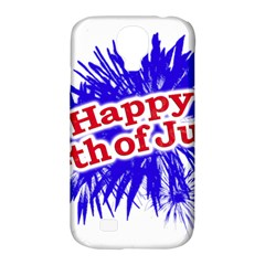 Happy 4th Of July Graphic Logo Samsung Galaxy S4 Classic Hardshell Case (PC+Silicone)