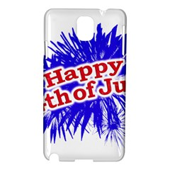 Happy 4th Of July Graphic Logo Samsung Galaxy Note 3 N9005 Hardshell Case
