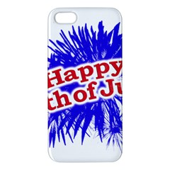 Happy 4th Of July Graphic Logo iPhone 5S/ SE Premium Hardshell Case