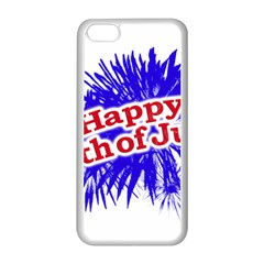 Happy 4th Of July Graphic Logo Apple iPhone 5C Seamless Case (White)