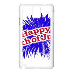 Happy 4th Of July Graphic Logo Samsung Galaxy Note 3 N9005 Case (White)