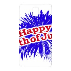 Happy 4th Of July Graphic Logo Samsung Galaxy Note 3 N9005 Hardshell Back Case