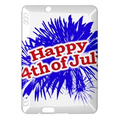 Happy 4th Of July Graphic Logo Kindle Fire HDX Hardshell Case