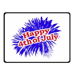 Happy 4th Of July Graphic Logo Double Sided Fleece Blanket (Small)