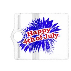 Happy 4th Of July Graphic Logo Kindle Fire HDX 8.9  Flip 360 Case