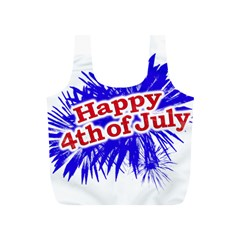 Happy 4th Of July Graphic Logo Full Print Recycle Bags (S)