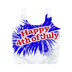 Happy 4th Of July Graphic Logo Full Print Recycle Bags (M)