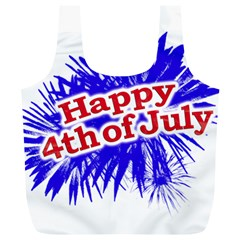 Happy 4th Of July Graphic Logo Full Print Recycle Bags (L)