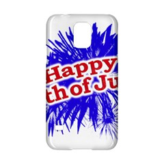 Happy 4th Of July Graphic Logo Samsung Galaxy S5 Hardshell Case