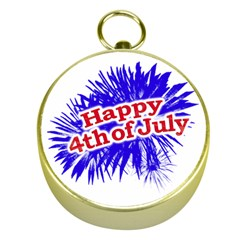 Happy 4th Of July Graphic Logo Gold Compasses