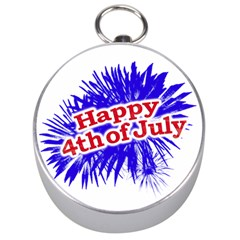 Happy 4th Of July Graphic Logo Silver Compasses