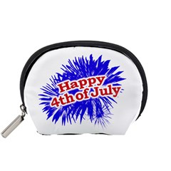 Happy 4th Of July Graphic Logo Accessory Pouches (Small)